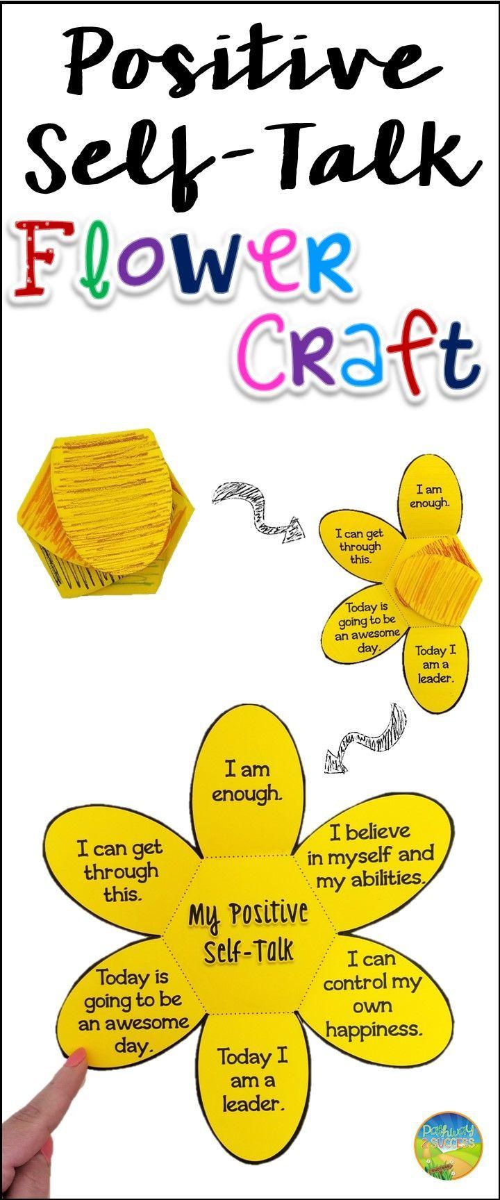 Positive flower craft social. Focus clipart self talk
