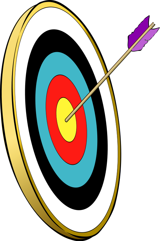 Focus clipart target arrow. October norah colvin snarkhunterarrowinthegold