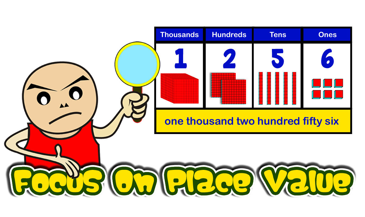 Focus on place value. One clipart base ten