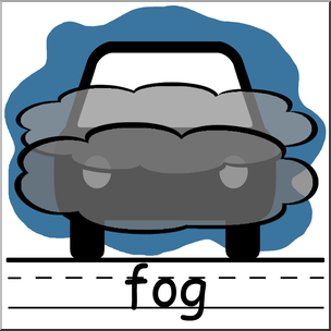 Clip art weather icons. Fog clipart