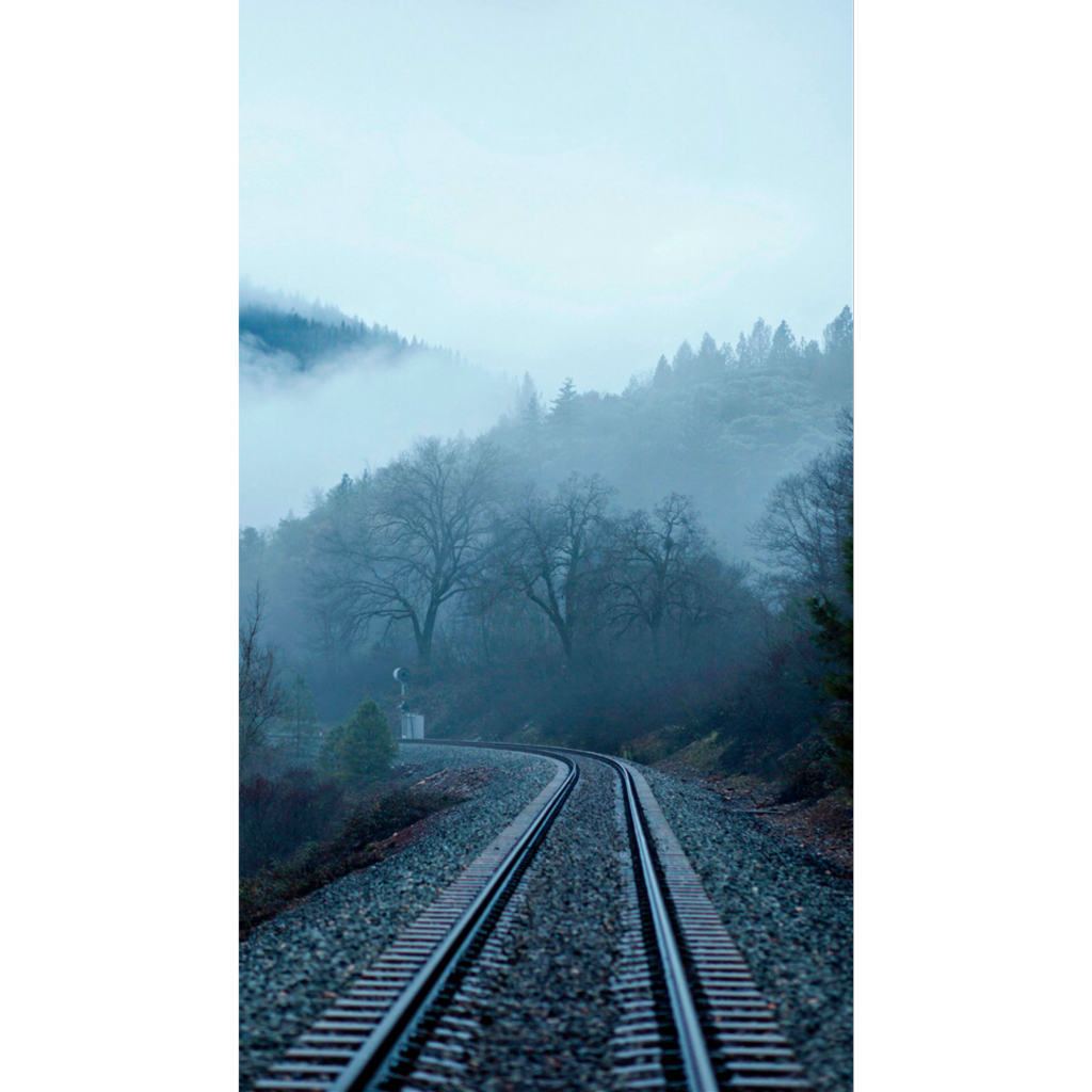 Ftestickers train way freetoedit. Fog clipart forest