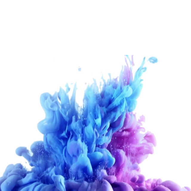 Ink colourful marks water. Fog clipart realistic smoke