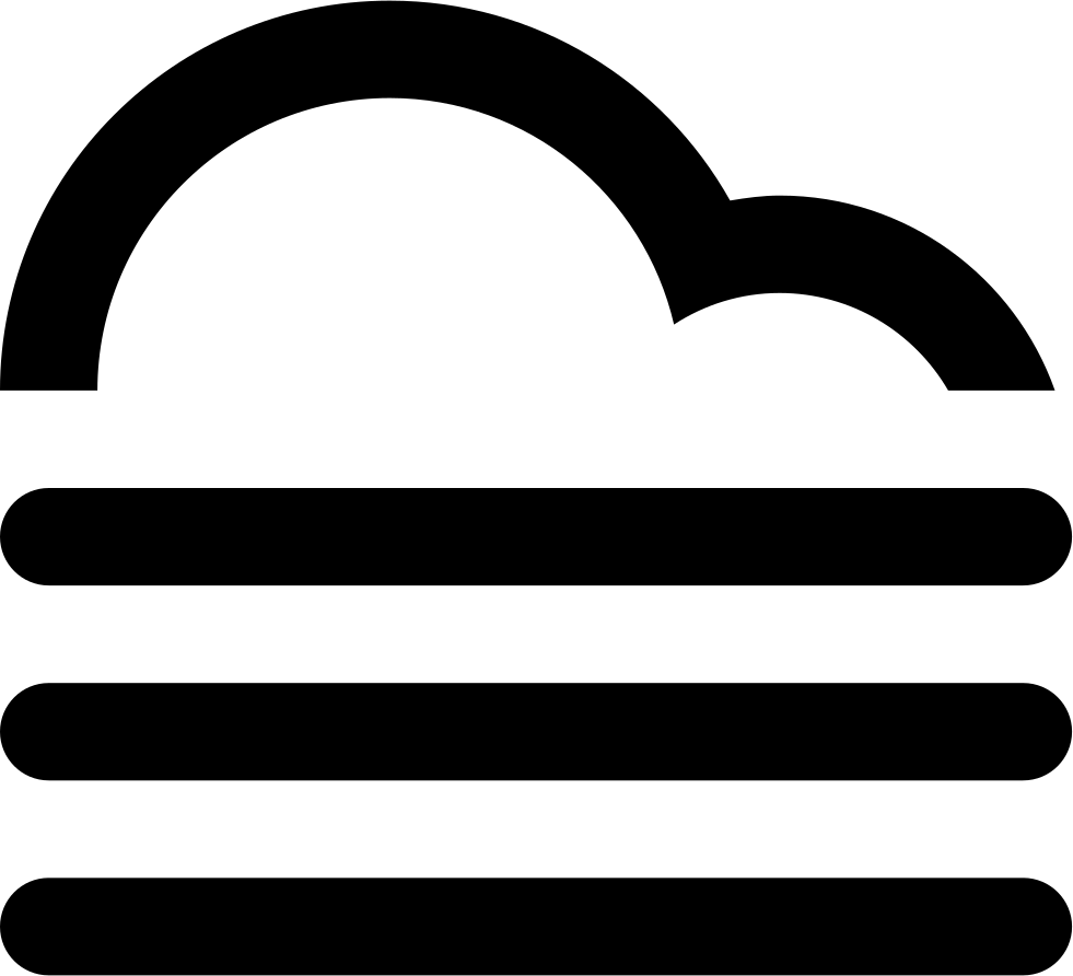 Fog clipart single cloud. Svg png icon free