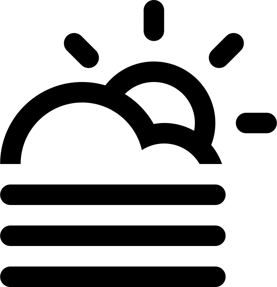Sun svg png icon. Fog clipart single cloud