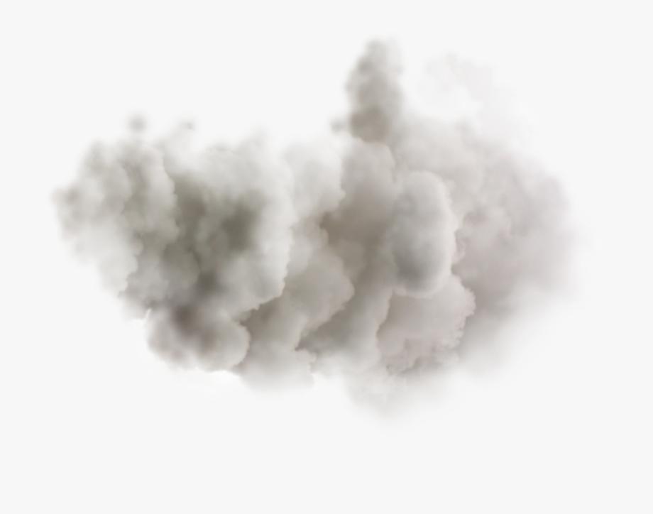 Smoking cloud clouds dots. Fog clipart smoke