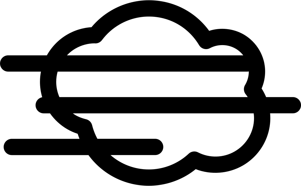 Fog clipart vector. Svg png icon free
