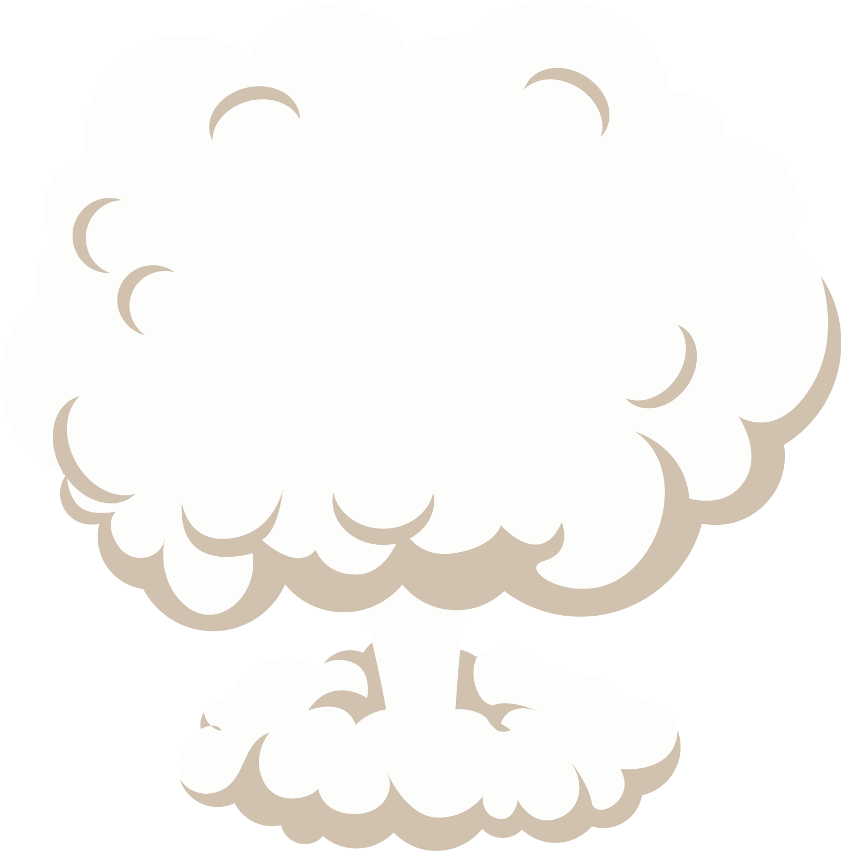 Mushroom cloud clip art. Fog clipart vector