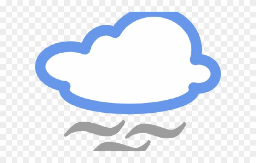 Windy clipart fog cloud. Wind foggy weather symbol