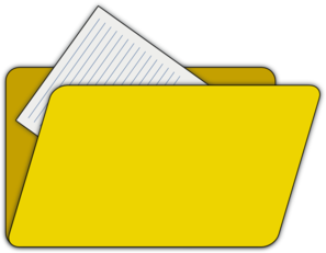 Folder clipart. With file icon clip
