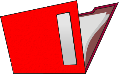 Red . Folder clipart