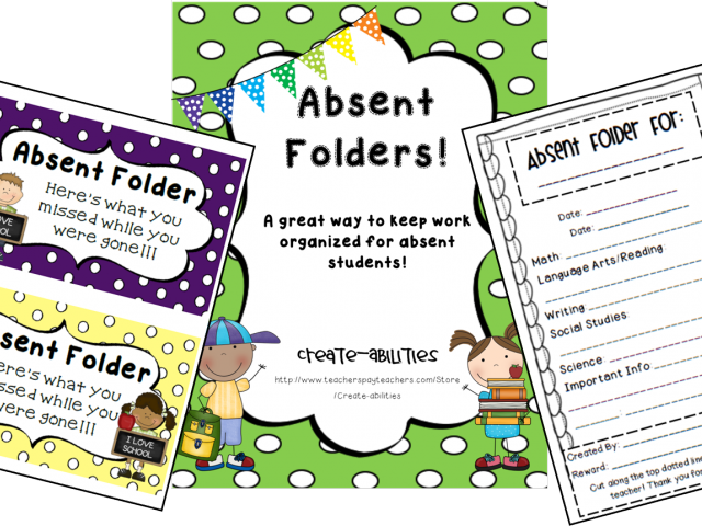 Folder clipart absent work. Organized student cliparts x