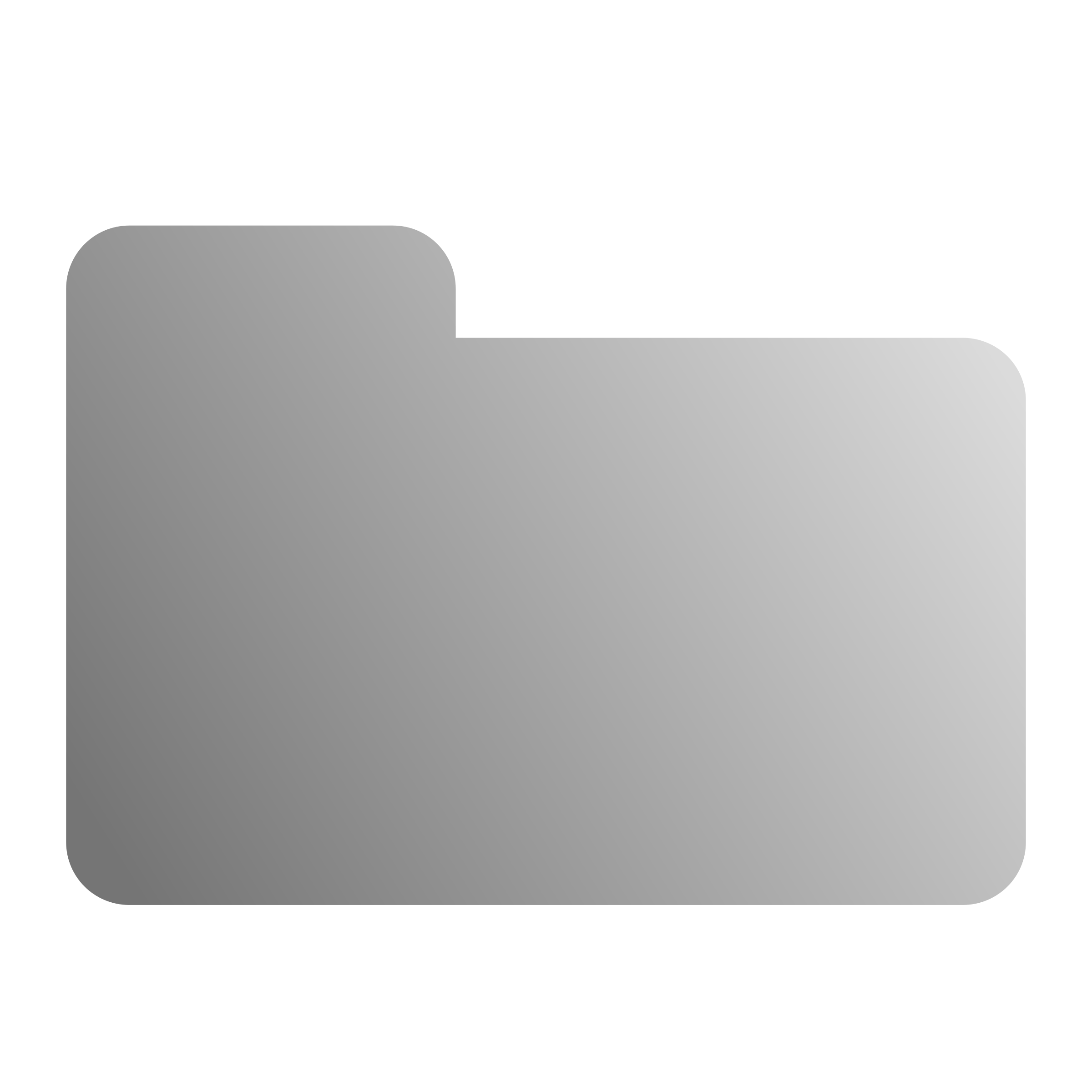 Icon big image png. White clipart folder