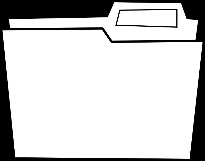 White clipart folder. Dossier medium image png