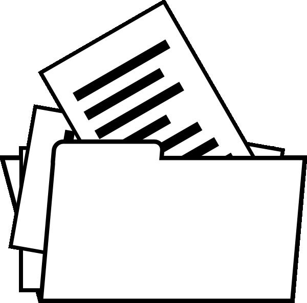 Folder black and white