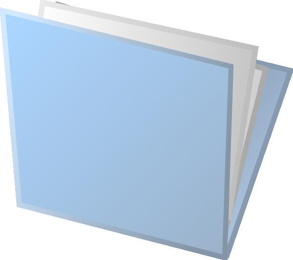 Folder clipart blue folder. Clip art at clker
