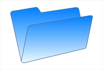 folders clipartlook. Folder clipart blue folder