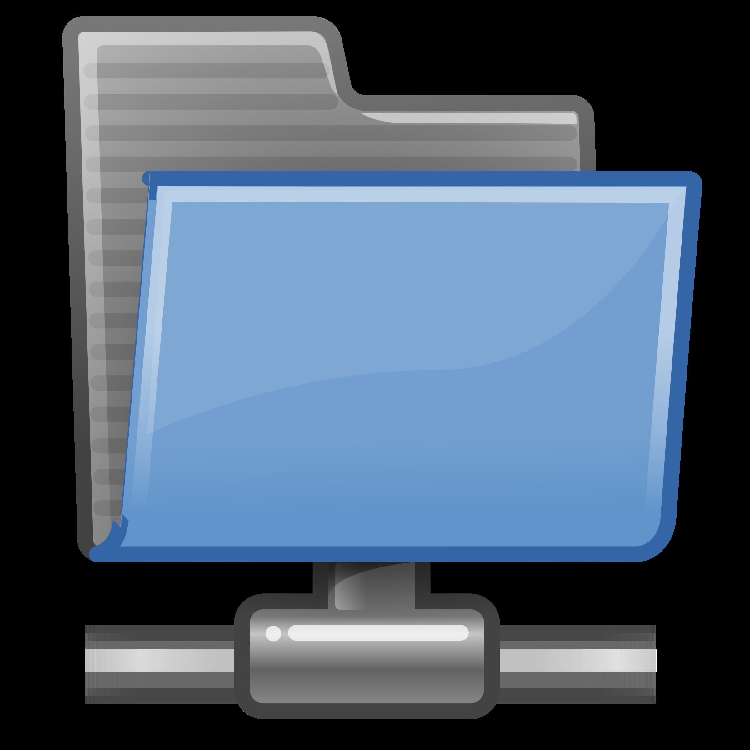 Folder clipart blue folder. Tango remote big image