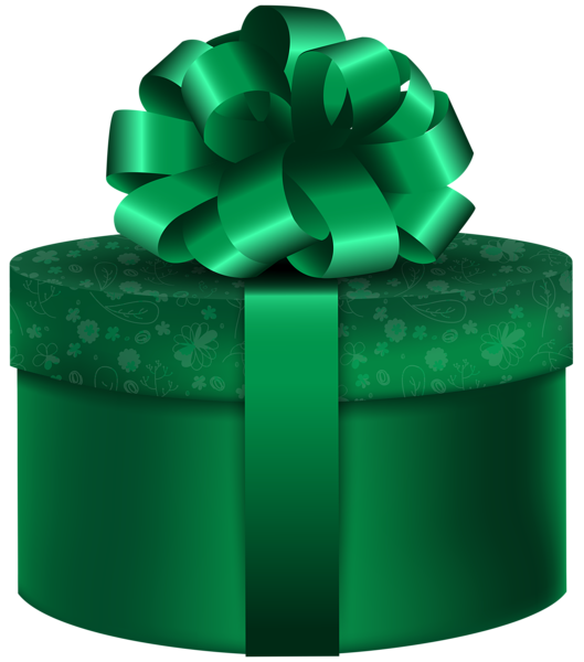 Green round gift png. Folder clipart box book