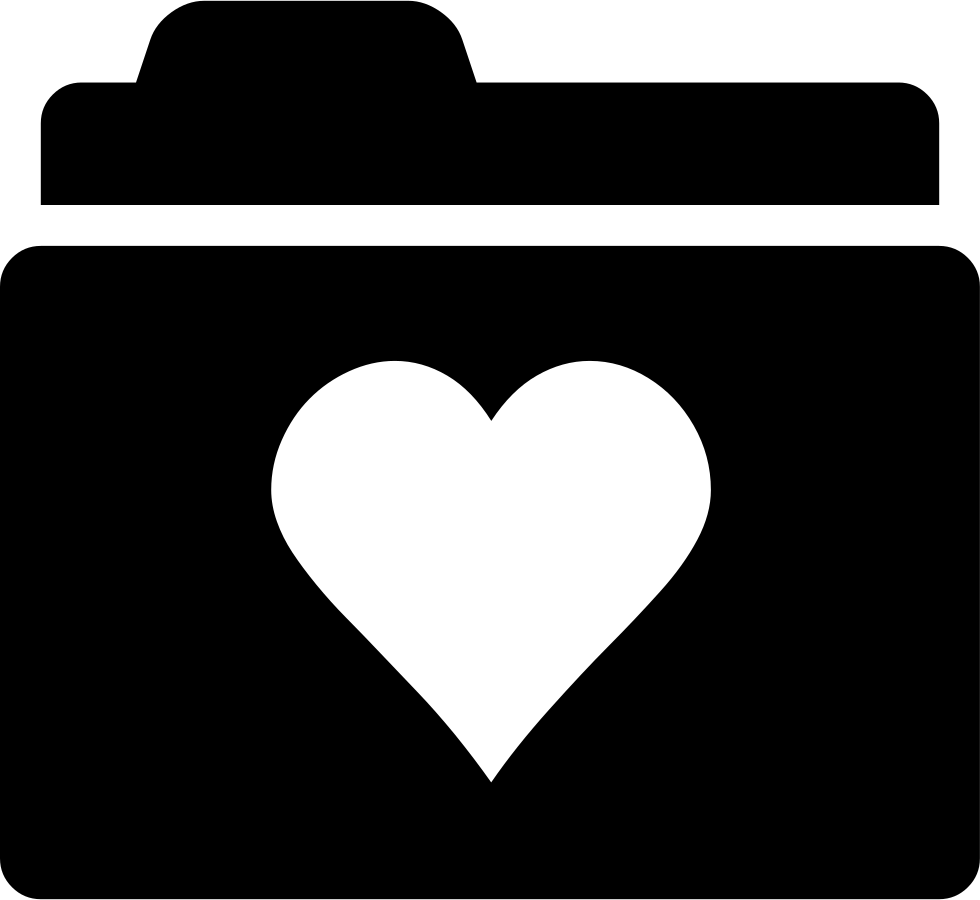 Heart svg png icon. Folder clipart case file