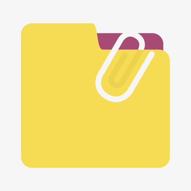 Yellow office supplies png. Folder clipart classification