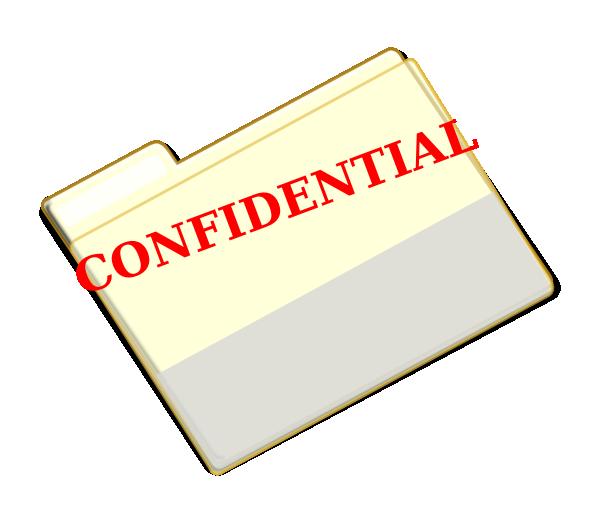 Clip art at clker. Folder clipart confidential
