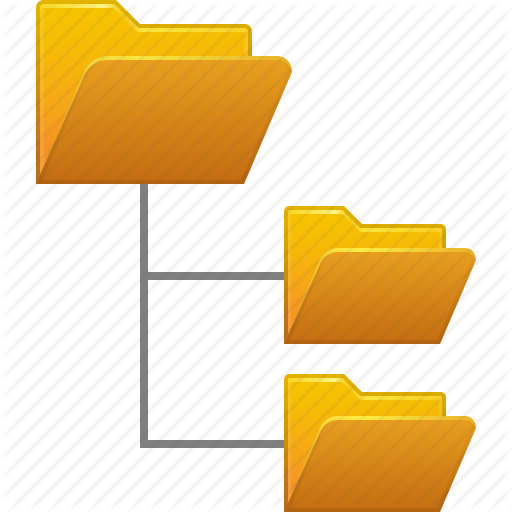 Yellow background text line. Folder clipart file system