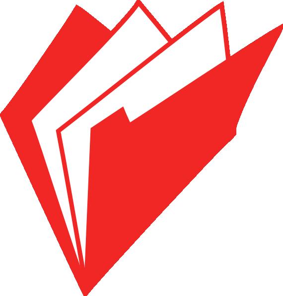 R clipart red. Folder clip art at