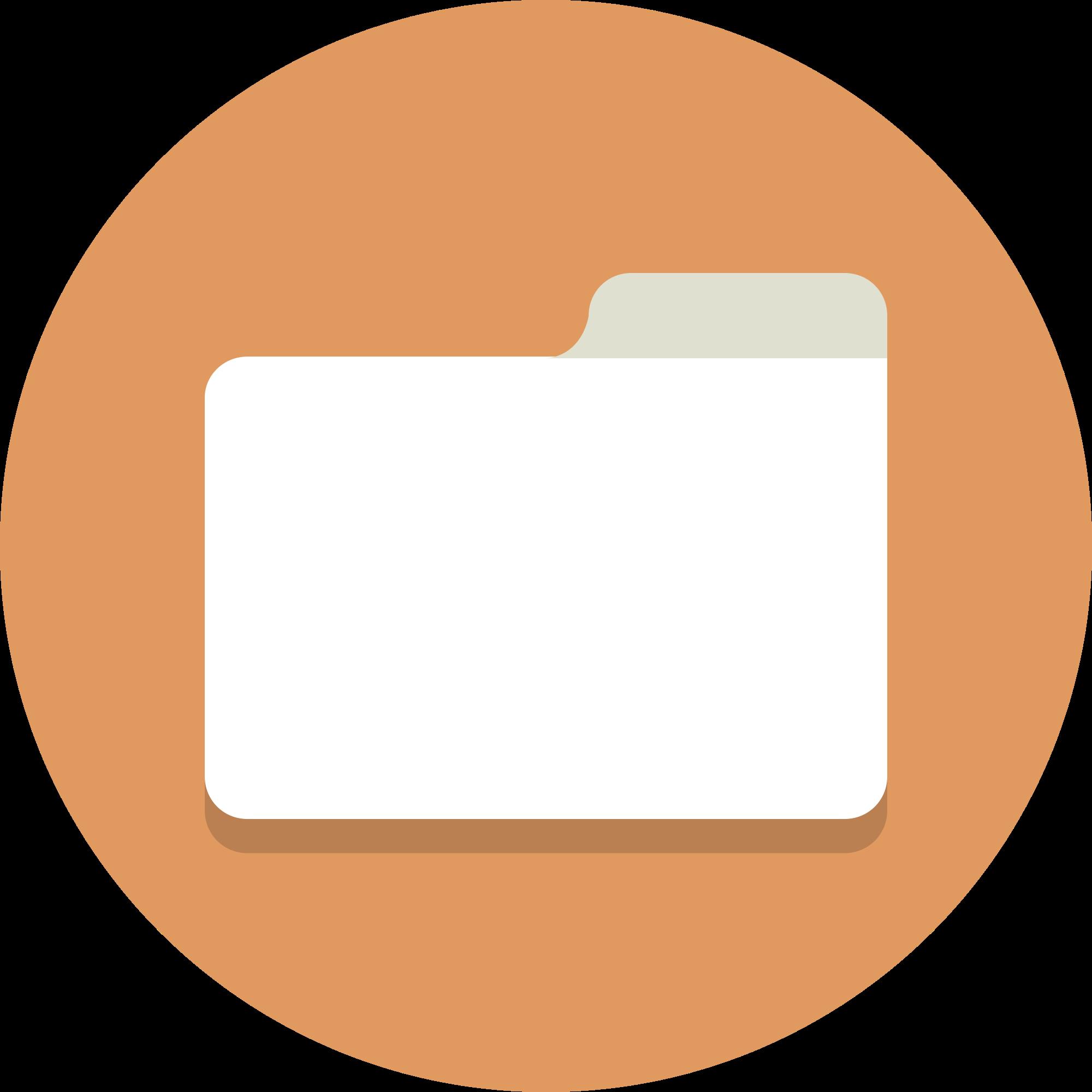 File circle icons svg. Folder clipart flat