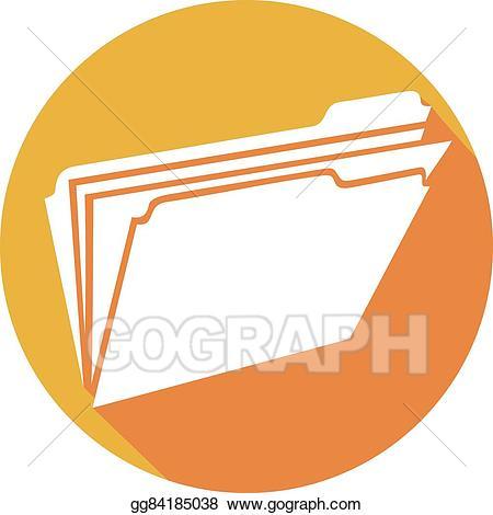 Vector illustration open icon. Folder clipart flat