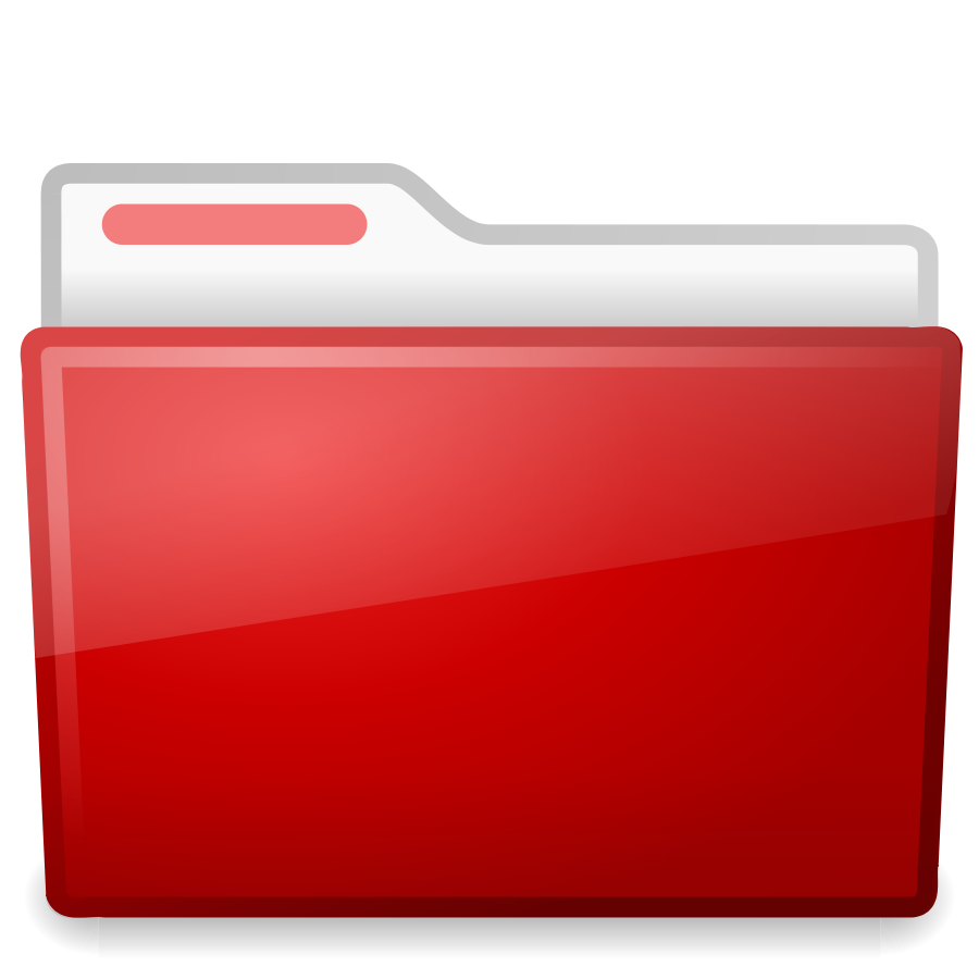 Hollywood clipart folder. Red icon