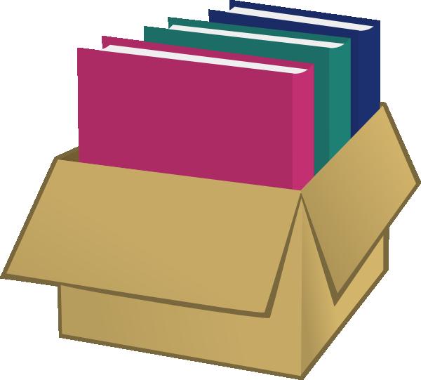 Folder clipart folder manila. Box with folders clip
