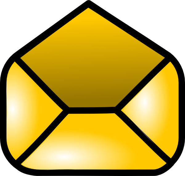 Open envelope icon clip. Mailbox clipart empty mailbox