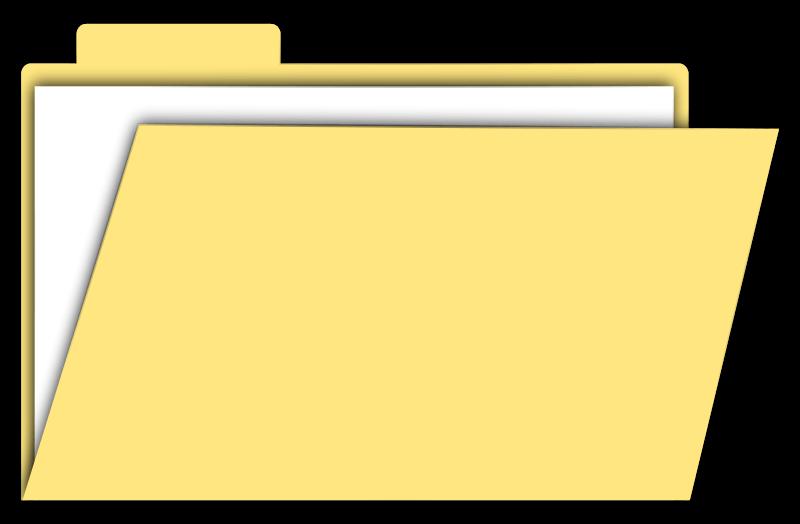 Folder clipart manilla folder. Yellow cliparts zone free