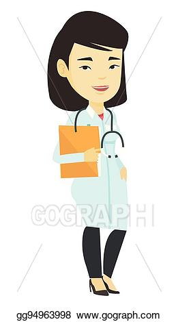 Folder clipart medical office. Vector art doctor with