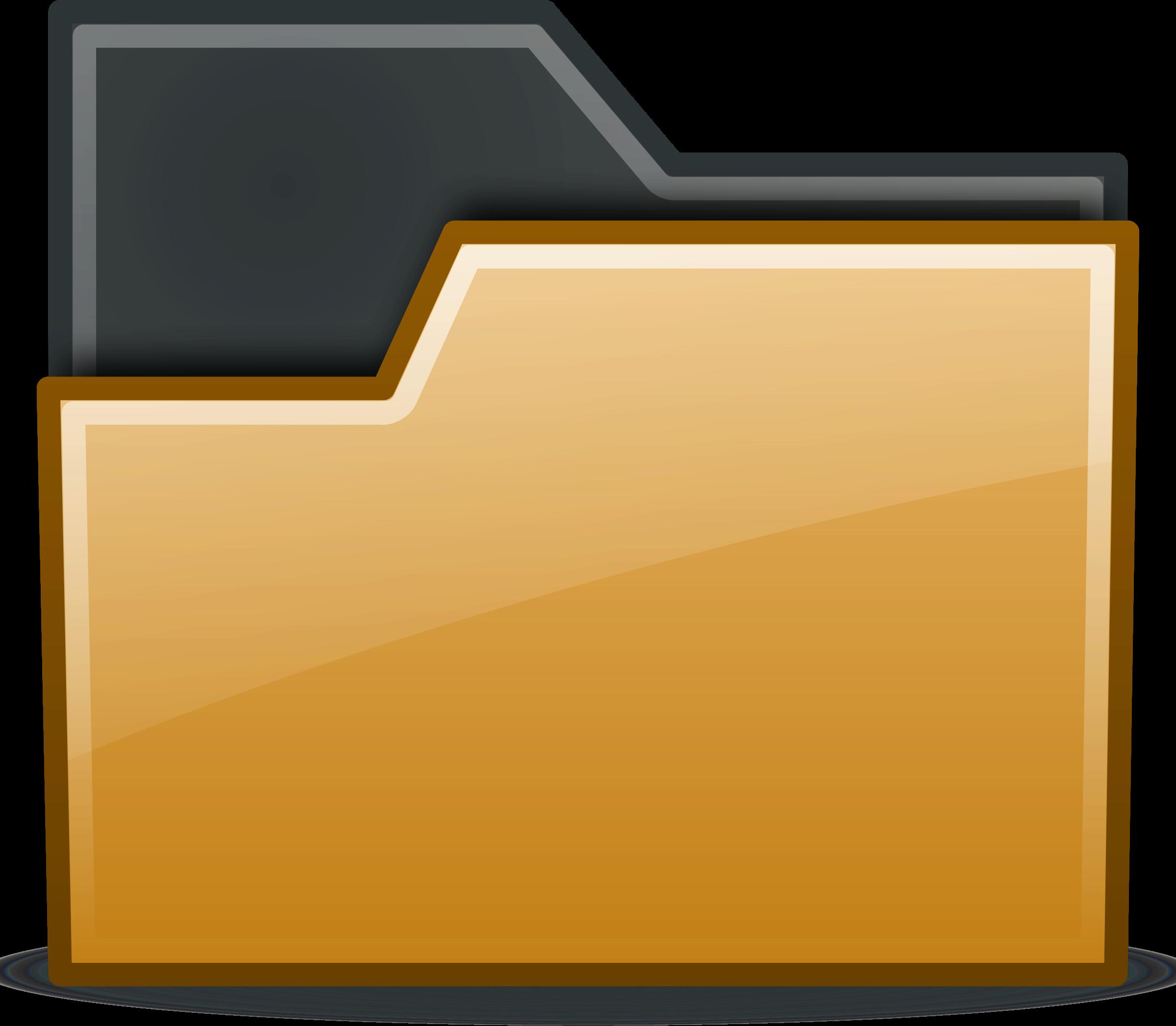 Folder clipart office material. Brown semitransparent big image