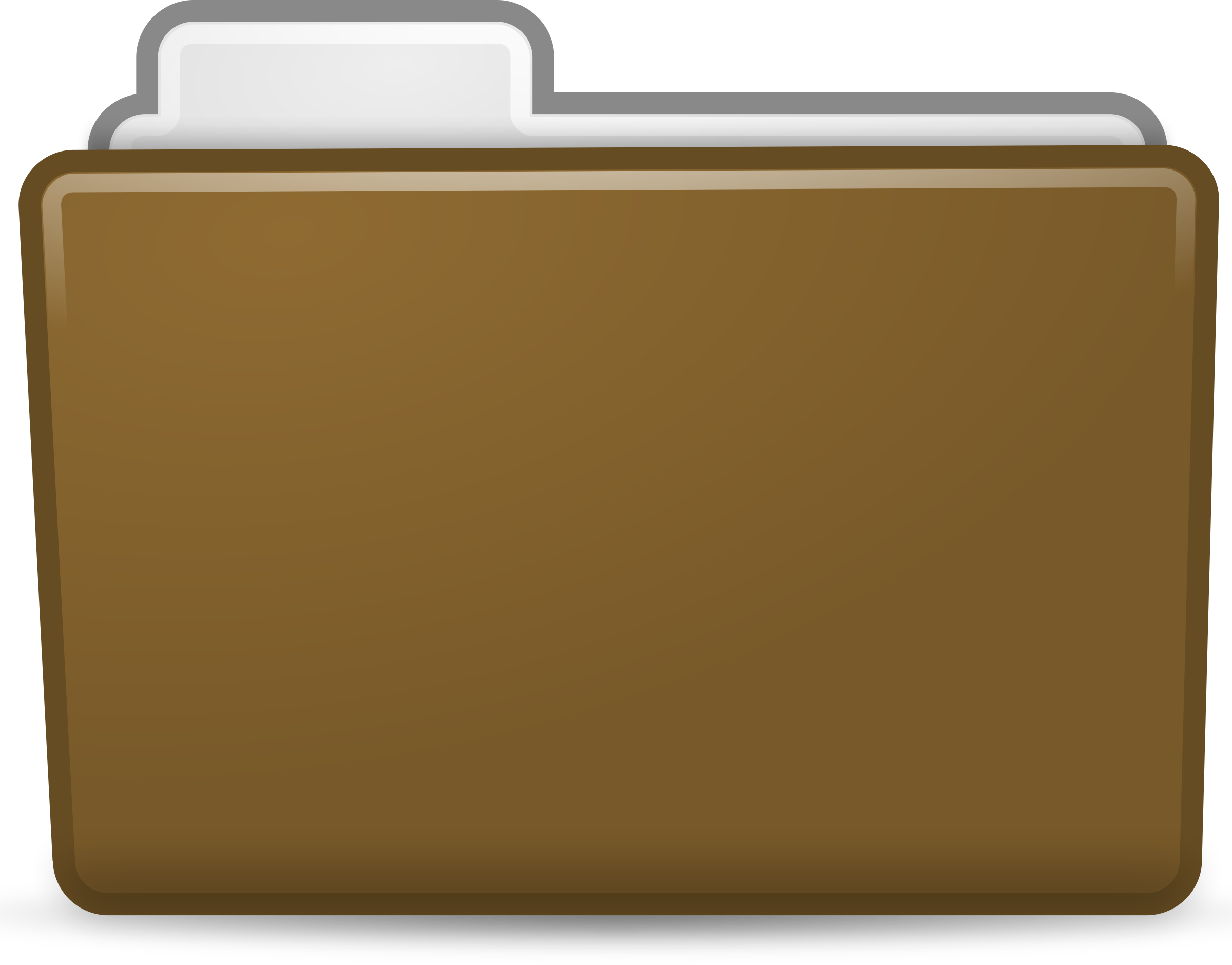 Folder clipart office material. Brown icon