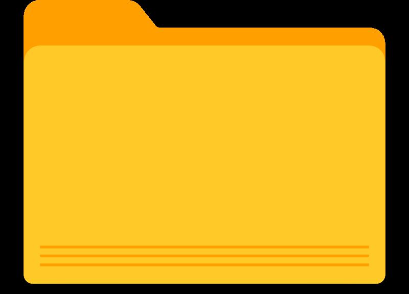 Square clipart yello. Blank yellow folder medium