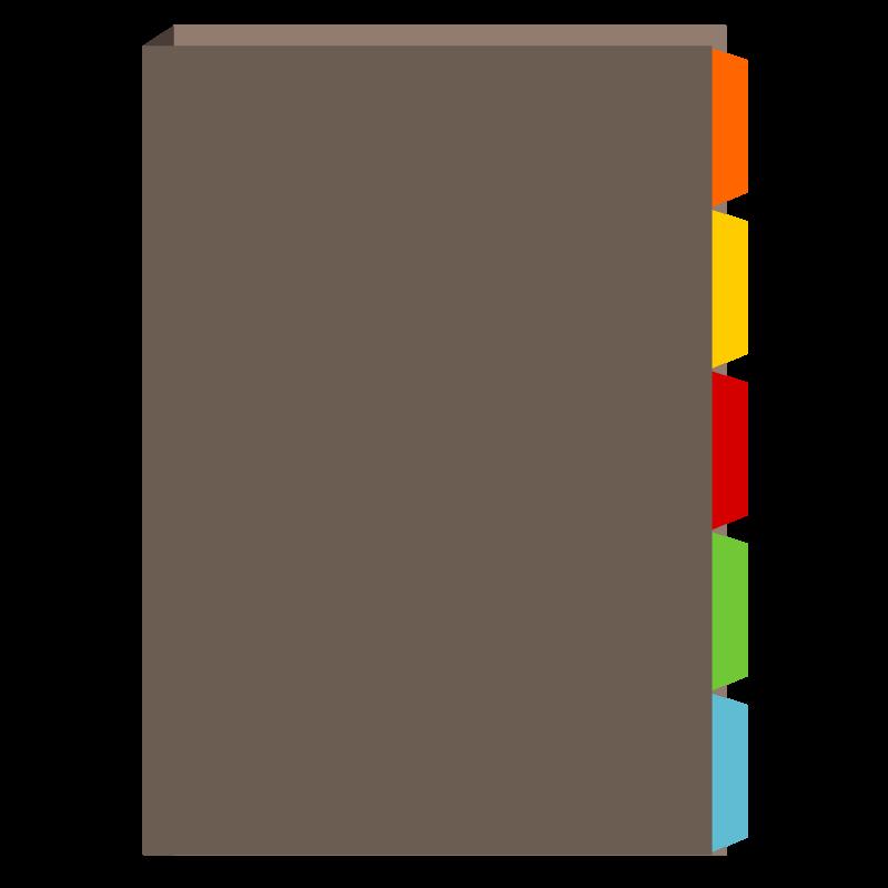 Office stationery organizer sorter. Folder clipart organized file