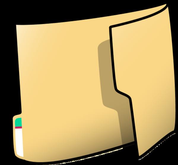 Paper in download small. Folder clipart pocket folder