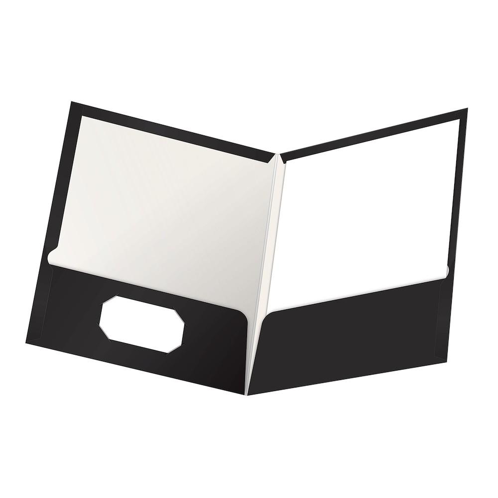 Folder clipart pocket folder. Oxford showfolio laminated twin
