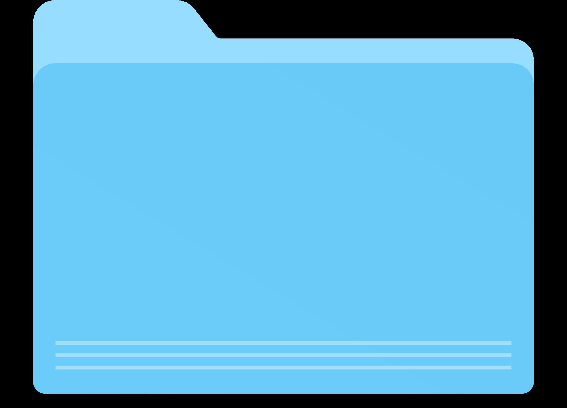 Blank blue big image. Folder clipart pocketed