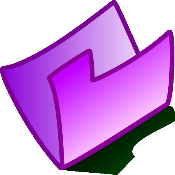 Folder purple folder