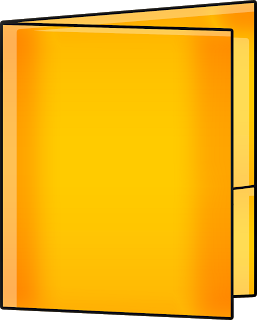Folder clipart school information. Free yellow cliparts download