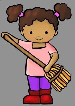 Classroom helper kids jobs. Folder clipart student worker