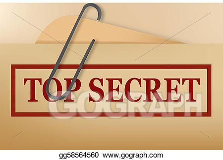 Eps illustration top file. Secret clipart folder