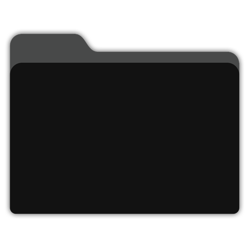 Folder icon png. Blank black x px