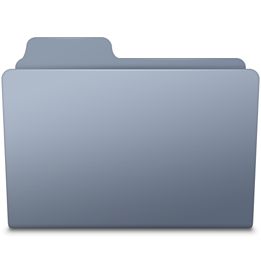 Folder icon png. Generic graphite smooth leopard