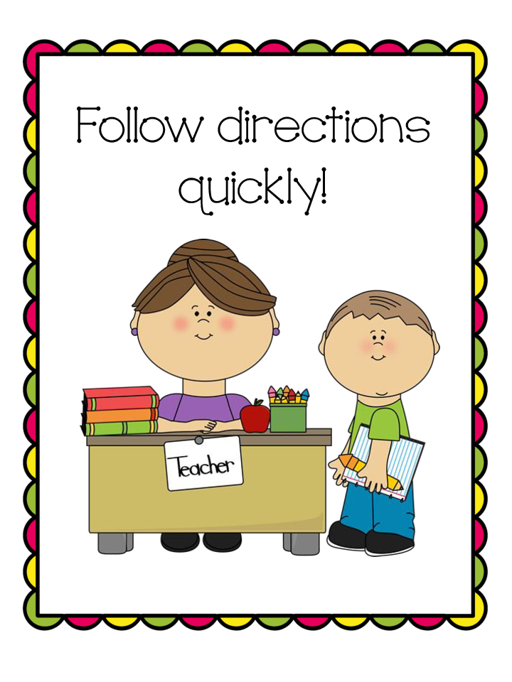 Direction rules jpg clipartix. Follow directions clipart