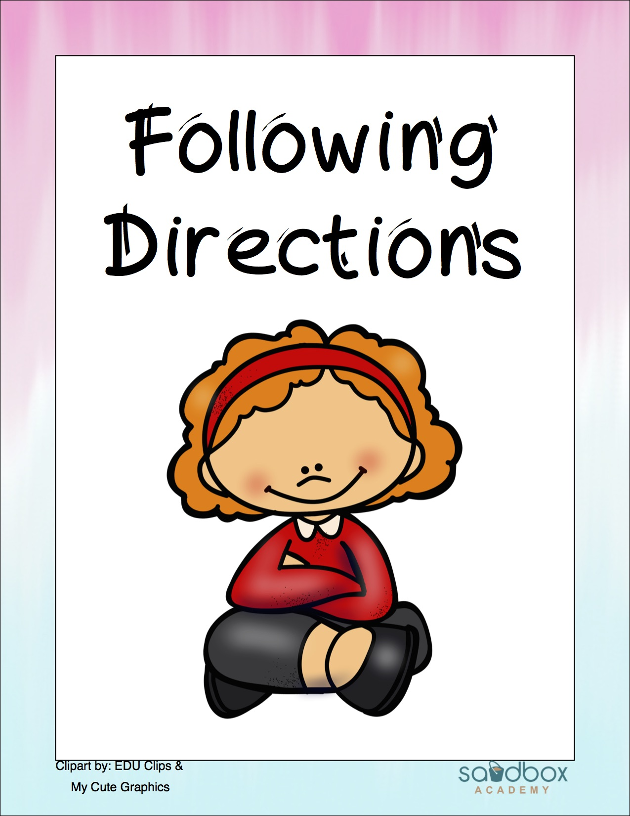 Follow directions clipart. Direction following social story