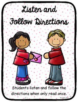 Follow directions clipart teacher. Listening and following valentine